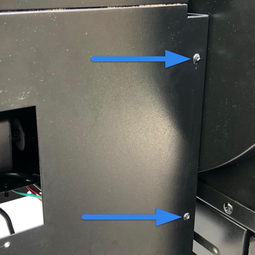 Remove hopper box screws